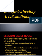 5. Unsafe Unhealthy Acts Condition
