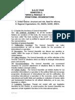Ba III Year Sem-5,Paper-6, Module-5, International Organisations