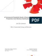 A Commercial Feasibility Study of Renewable Methanol Production from Biomass Gasification in Iceland