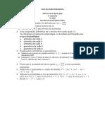 Teste Analise Matematica Sala 6 Manhã ISEC 2019-2020 Versão
