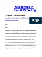 Ethical Challenges in International Marketing