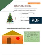 Períimetros y Áreas en Navidad-ejercicio