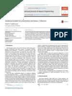 Analytical Models for Penetration Mechanics