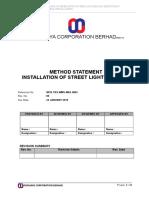 Method Statement - Street Lighting Installation