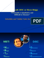 Disc vs Myers Briggs