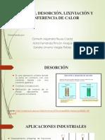 Absorción, Desorción, Lixiviación y Tranferencia de Calor