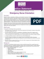 Emergency Nurse Orientation