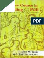 New Course in Reading Pali_James W Gair & W S Karunatillake_OCR