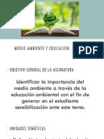 Guía de Estudio Medio Ambiente y Educación