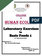 Basic Foods Laboratory Exercises