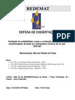 Agendamento de defesa