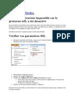 Modifier SSL Et TLS Firefox