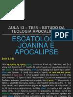 Aula 13 - Escatologia Joanina e Apocalipse