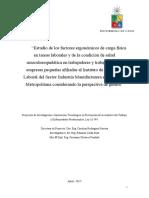 Informe Final Estudio Ergonomia U Chile ISL