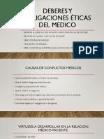 Obligaciones éticas del médico