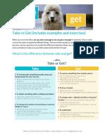 Printable TAKE vs GET Talaera Article - Grammar Tips - Take vs Get (1)