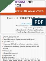 HR Analytics - Unit 4 Chapter - 7 - Data Driven HR Analytics