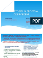 Etica Datoriei În Profesia de Profesor