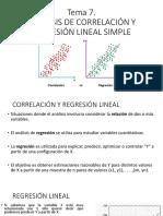 T7.1  Análisis de correlación y regresión lineal simple