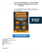 Machine Learning for Absolute Beginners a Plain English Introduction Machine Learning for Beginners (1)