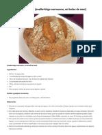 Pan sin gluten rústico (zealia+trigo sarraceno, en bolsa de asar)