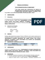 TERMINOS DE REFERENCIA RODILLO COMPACTADOR