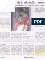 Hindu Report On Solidarity Endosulfan Project