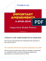 7 Important Amendments in 2018 and 2019