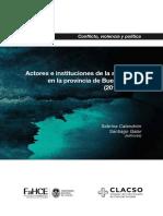 Actores e instituciones de la seguridad en la provincia de Buenos Aires (2010-2018)