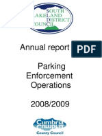 South Lakeland Annual Report Parking Enforcement Operations 2008 2009 September 2009