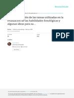 Defior. Clasificación de tareas utilizadas en evaluación de conciencia fonológica