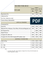 DPS Vindh Fee Structure 2019-20