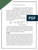 Obtención del nitro benceno