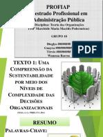 Seminário de Mestrado em Administração Pública