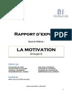 Rapport d'Exposé Motivation-1