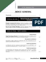 Índice Revista Actualidad Penal N.° 65
