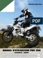 AJP MOTOS - PR5 Manuel D'Utilisateur