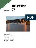 hyroelectric energy/ hydroelectriciti