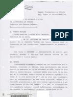 Reclamo al Subsecretario de Recursos Hídricos de la Provincia de Córdoba