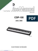 Casio CDP-100 ServiceManual Aug2005
