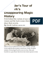 Disappearing Magic History