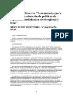 2016.02 - RM N° 64-2016-IN [Lineamientos  para Políticas de SC]