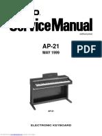 Casio AP-21 Service Manual