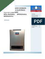 Manual Instalacion-operacion Boiler de Paso Electrico h2otek Linea Bpe