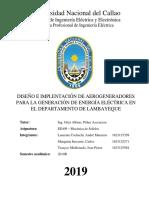 Diseño e Implentación de Aerogeneradores Para La Generación de Energía Eléctrica en El Departamento de Lambayeque