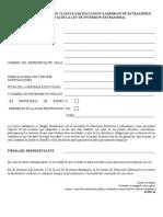 Aviso de Modificacion de Clausula de Exclusion a Admision de Extranjeros