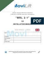 Movilift Eng Mrl Installation Manual Rev. 1