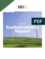 2018 BDO Sustainability Report