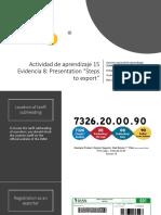 Evidencia 15 Evidencia 8 Steps to Export Julieth Acosta