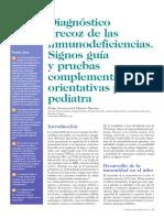 1. Diagnóstico precoz de las inmunodeficiencias. Signos guía y pruebas complementarias orientativas para el pediatra